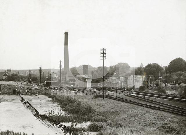 Moor Bridge construction, Bulwell, Nottingham, 1938