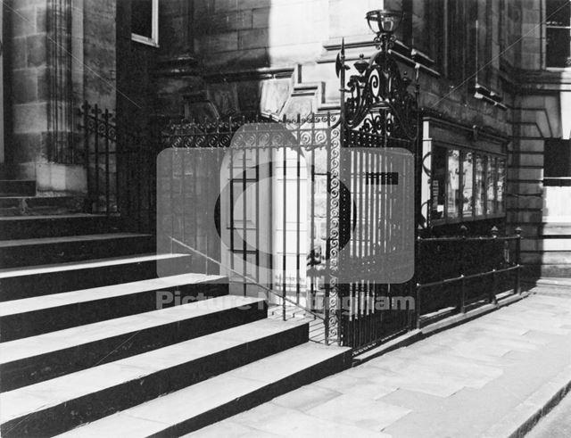 Shire Hall Gates, High Pavement, Lace Market, Nottingham, 1971
