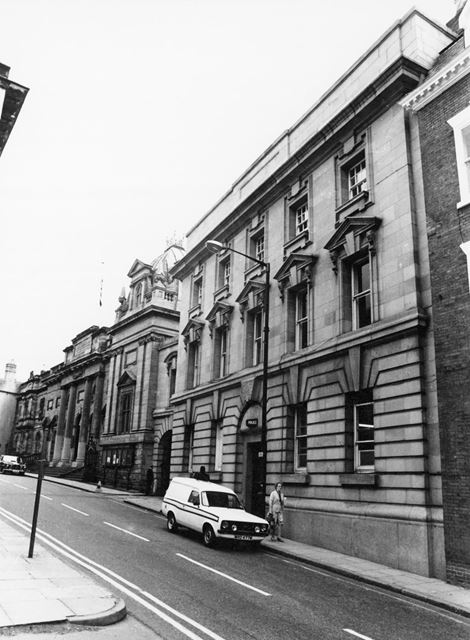 Shire Hall and Police Station, High Pavement, Lace Market, Nottingham, 1981