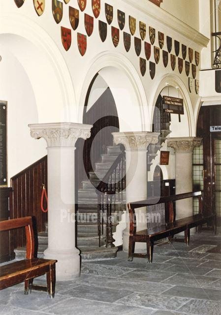 Reception Area, Shire Hall, High Pavement, Lace Market, Nottingham, 1989