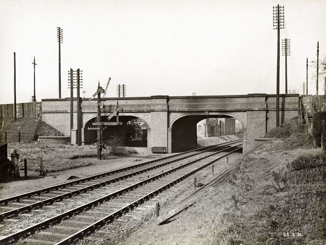 Widening of LMS Railway Bridge, Derby Road, Lenton, Nottingham, 1931