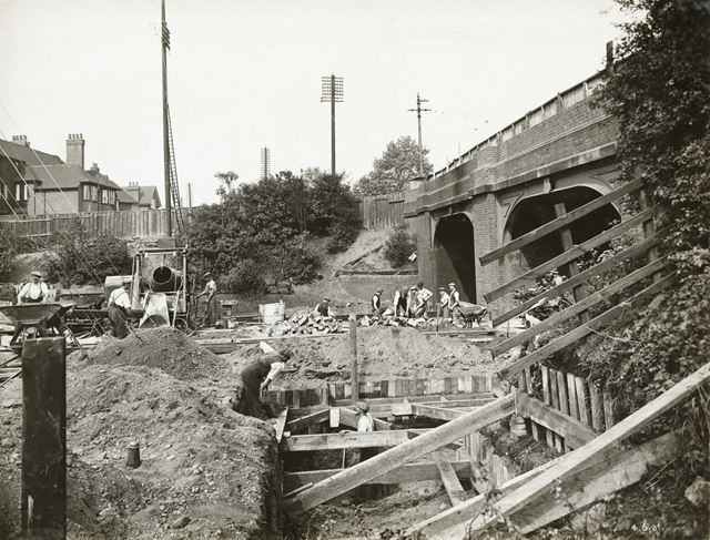 Widening of LMS Railway Bridge, Derby Road, Lenton, Nottingham, 1931