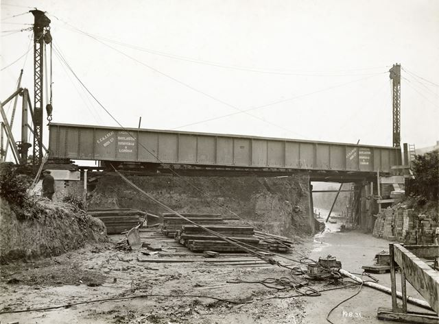 Mineral Railway Bridge, Broxtowe Lane, Aspley, Nottingham, 1931
