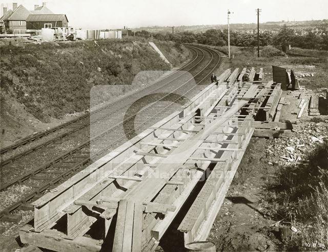 Construction of new Arnold Road Bridge, Basford, Nottingham, 1939