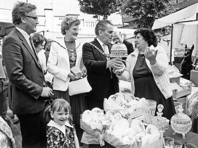 Official Opening, Wednesday Market, Radford Road, Hyson Green, 1982