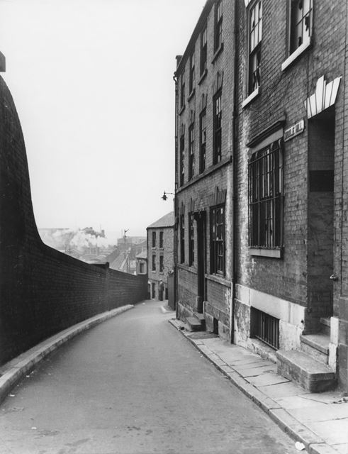 Middle Hill, Lace Market, Nottingham, 1963