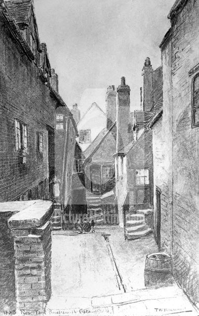 Rose Yard, Bridlesmith Gate, Nottingham, 1883