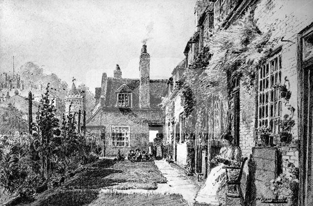 Jessamine Cottages, off Castle Terrace, Nottingham, 1918
