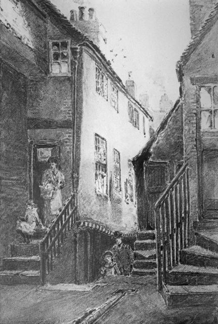 Rose Yard, Bridlesmith Gate, Nottingham, 1882