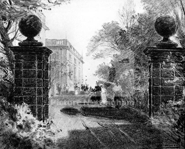 West Gate, Nottingham Castle, Nottingham, 1892