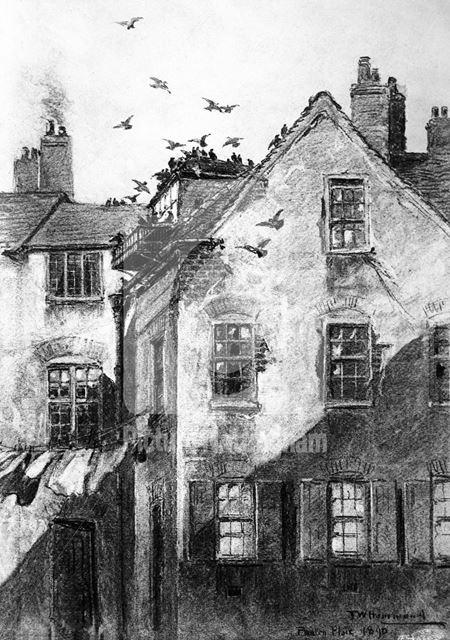 Pigeon Loft, Postern Place, Middle Pavement, Nottingham, 1890