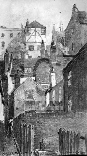 Byron Yard, Narrow Marsh, Nottingham, 1888