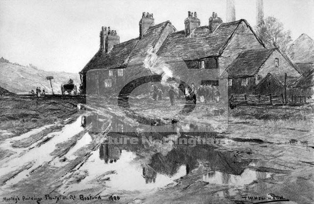 Moseley's Buildings, Plantation Side, Bobbers Mill, Nottingham, 1920
