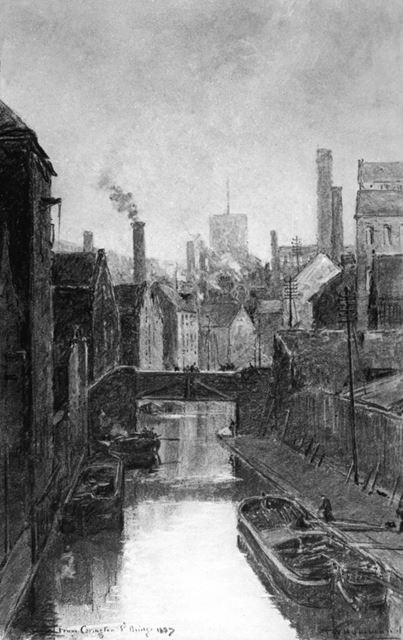 Nottingham Canal Looking East From Carrington Street Bridge, London Road, Nottingham, 1887