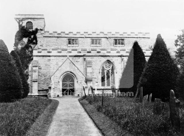 St Mary's Church, Church Street, Orston, c 1900