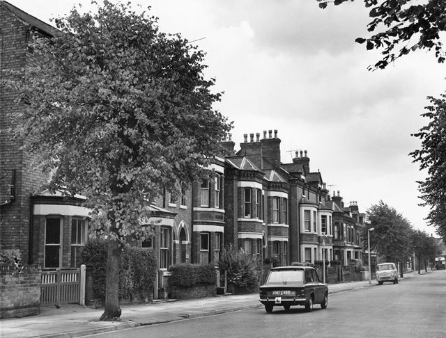 Imperial Road Looking South, Beeston, 1961