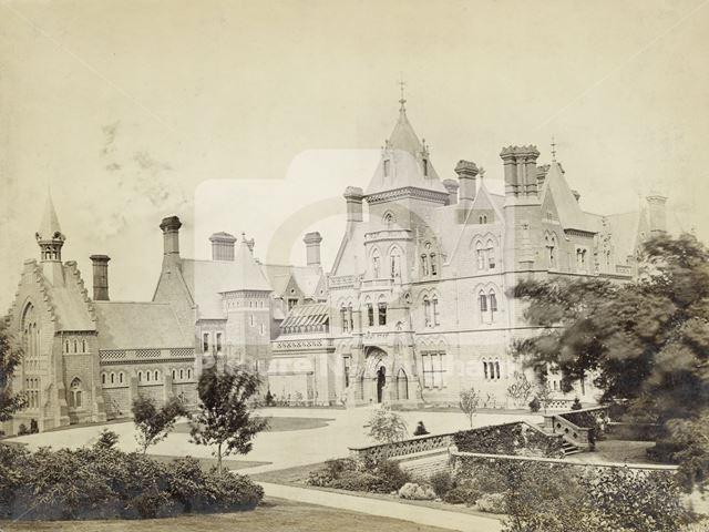 West Aspect of Bestwood Lodge, Bestwood, Nottingham, c 1890s
