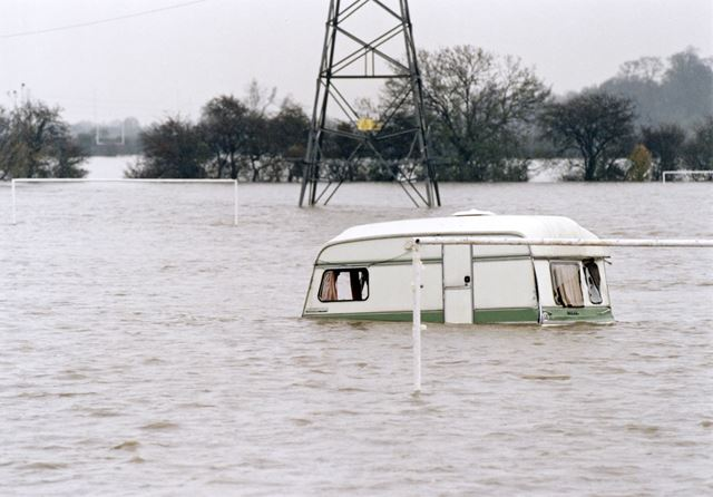 Floods on Westfield Recreation Ground, Beeston Rylands, Beeston, 2000