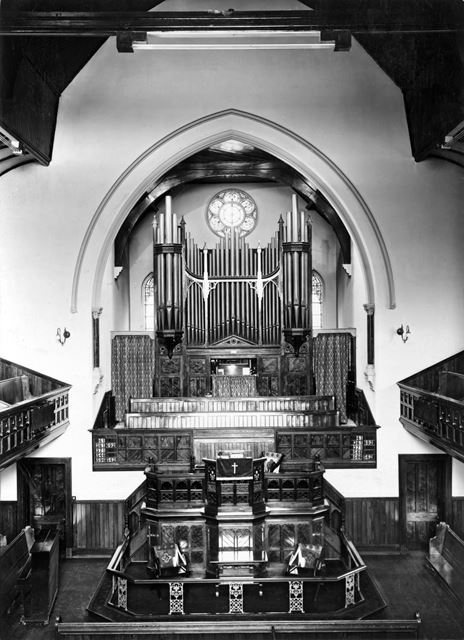 Chilwell Road Methodist Church - interior, Chilwell Road, Beeston, c 1968