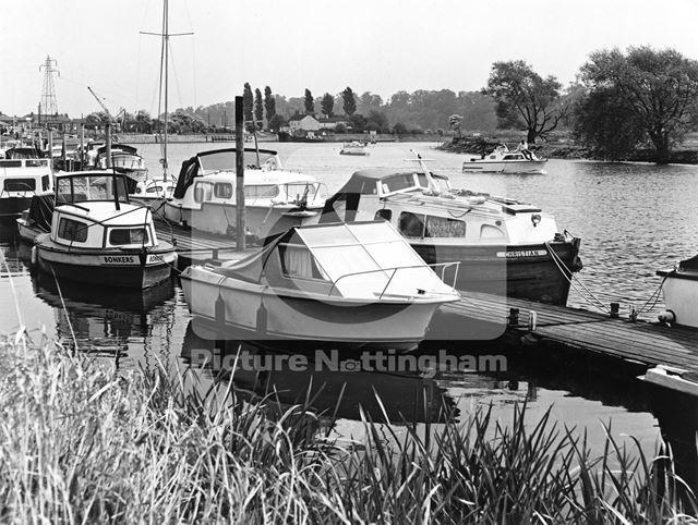 Beeston Lock and Marnia, River Trent, Beeston, 1976