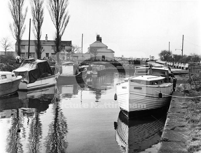 Beeston Lock, Canal Side, Beeston, 1967