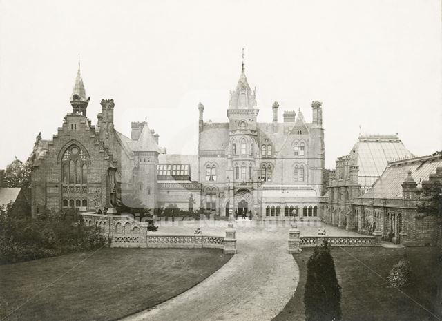 Main Entrance and Chapel, Bestwood Lodge, Bestwood, Nottingham, c 1890s