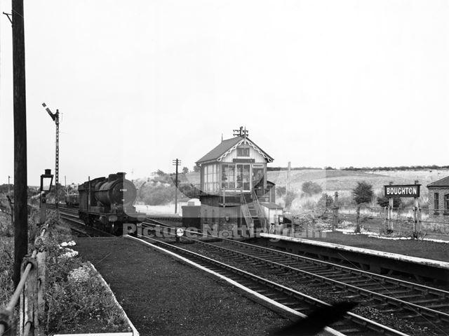 Railway Station, Boughton, 1955