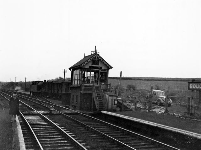 Railway Station, Boughton, 1954