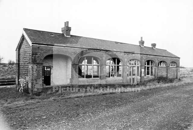 Remains of Fledborough Station, 1978