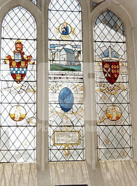 St Mary's Church window, Church Road, Greasley, c 1985