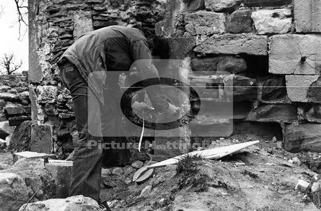Haughton Chapel ruins, south bank of River Maun, near Haughton, 1978