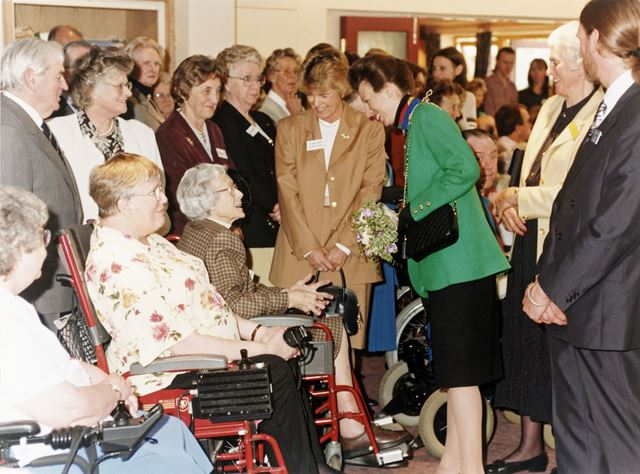 Opening of Extension by Princess Anne, Skylarks Centre, Adbolton Lane, West Bridgford, 1999