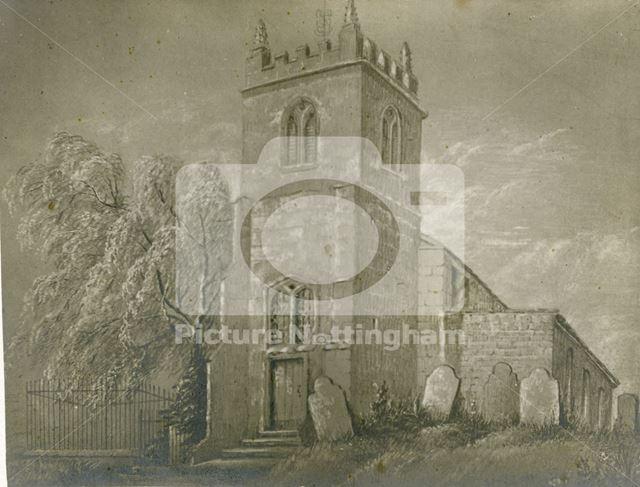 St Mary's Church, Church Lane, Bulwell, Nottingham, pre 1850