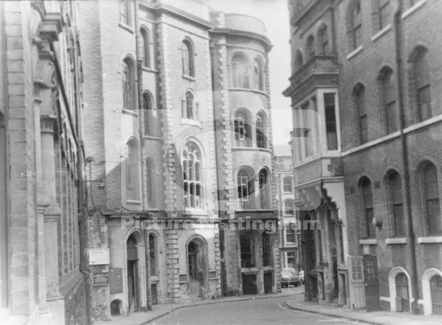 Broadway Looking East, Lace Market, Nottingham, 1972