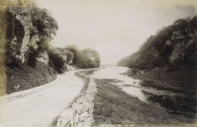 Creswell Crags, Creswell, c 1890