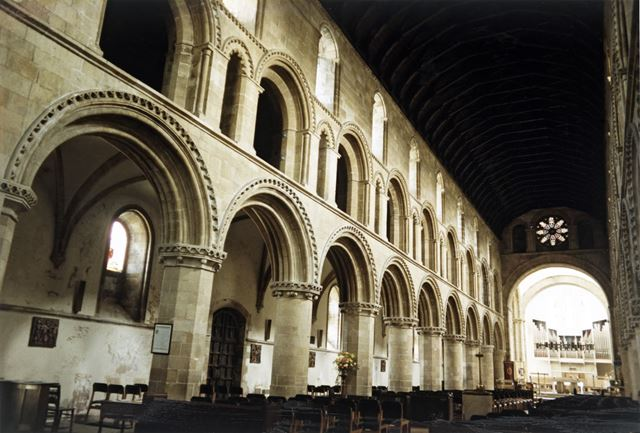 Nave, Priory Church, Priorswell Road, Worksop, c 1980s