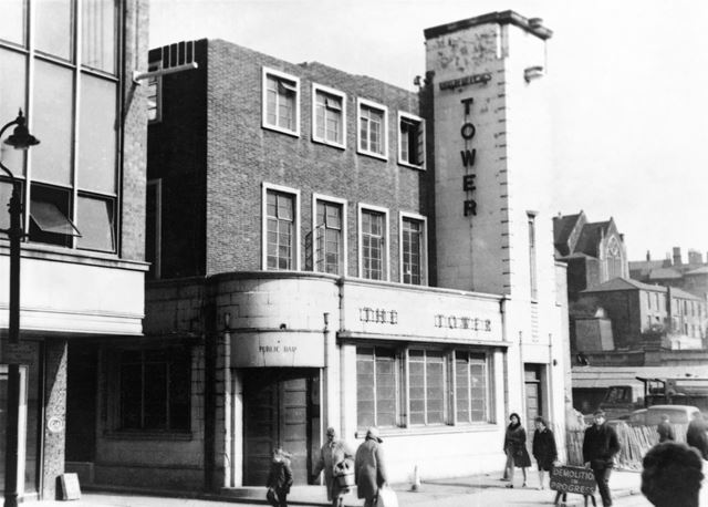 The Tower public house, Broad Marsh, Nottingham, 1971