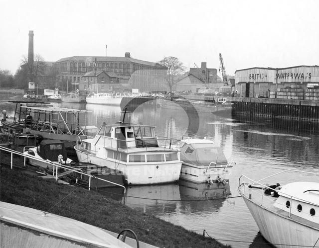 Nottingham Canal, Meadow Lane Lock, Meadows, Nottingham, 1973