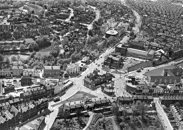 Aerial View Looking South-West, Canning Circus, Nottingham, c 1973