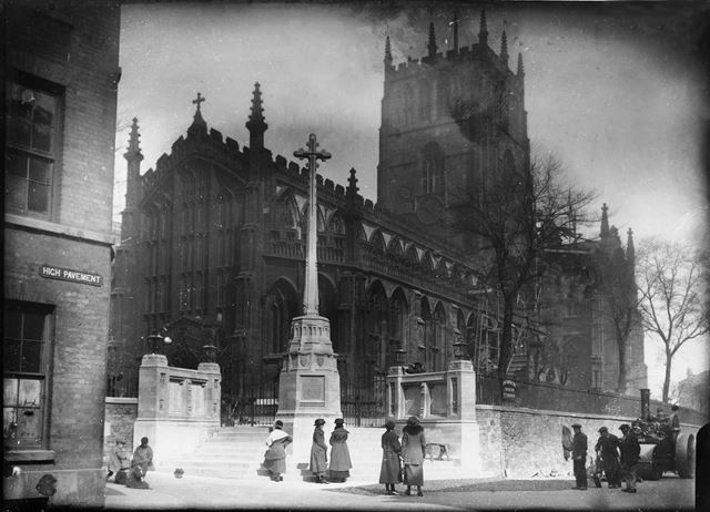 St Mary's Church, High Pavement, Lace Market, Nottingham, 1922