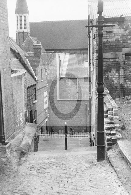 Short Stairs, Lace Market, Nottingham, 1964