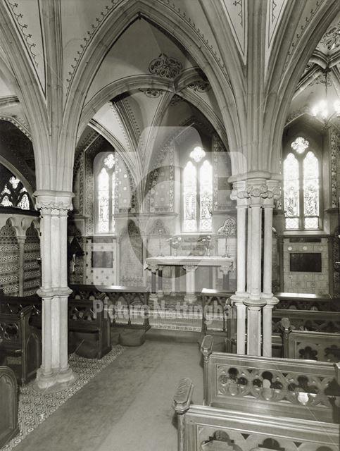 Interior of Newstead Abbey Chapel, Newstead Abbey, 1964