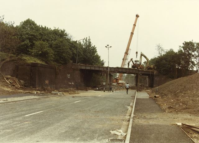 Colwick Road Bridge Being Demolished, Daleside Road East, Colwick, 1984