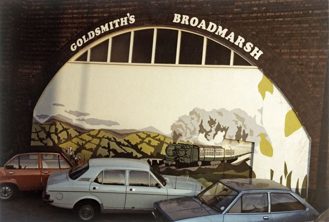 Goldsmith's Garage, Middle Hill, Nottingham, 1980s