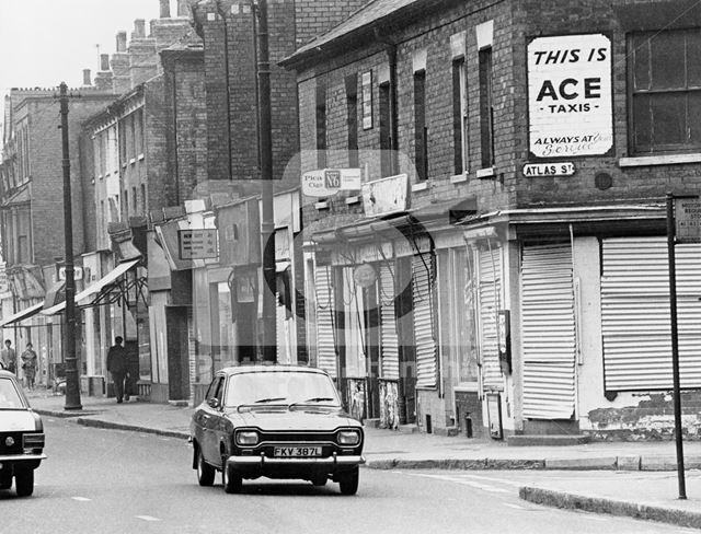 Arkwright Street, Meadows, Nottingham, 1973