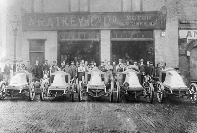 A.R.Atkey and Co.Motor Engineers, Trent Street, Nottingham, c 1905