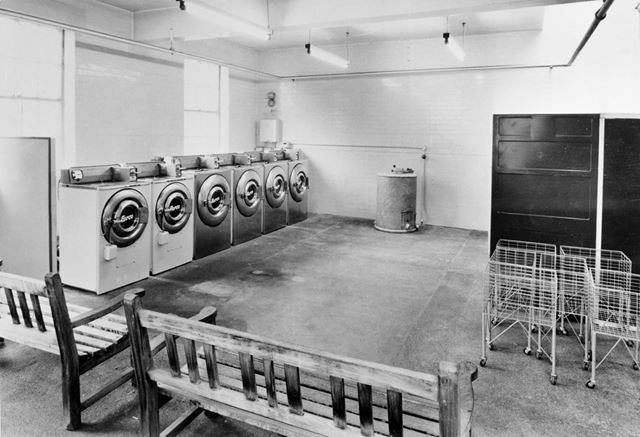 Interior of Public Wash House, Noel Street, Hyson Green, Nottingham, 1967