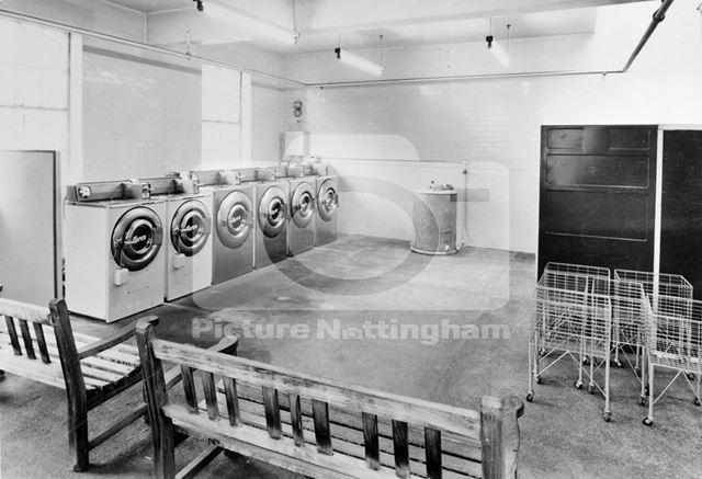 Interior of Public Wash House, Noel Street, Hyson Green, Nottingham, 1967