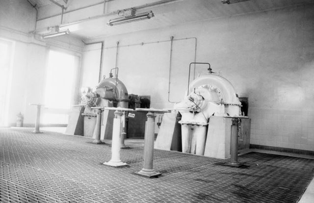 Interior of Basford Gas Works Showing Booster Plant, Radford Road, Basford, 1976