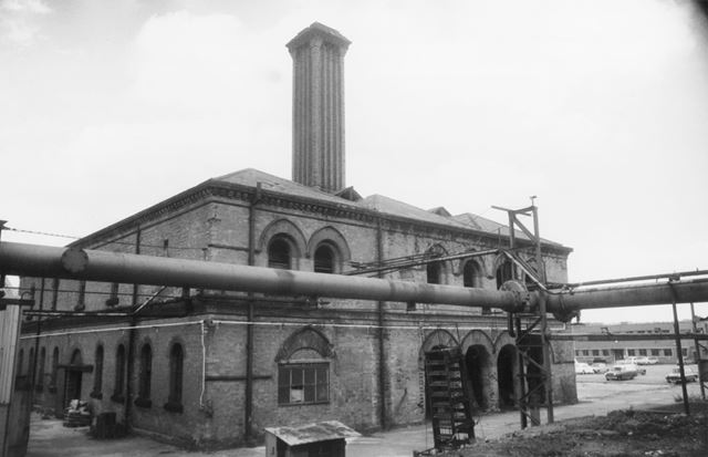 Boiler House and Lime Store, Basford Gas Works, Radford Road, Basford, 1976